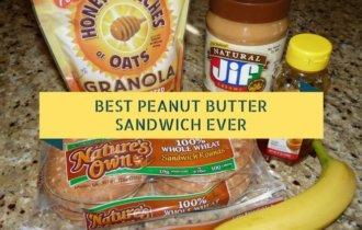 The Best Peanut Butter Sandwich Ever