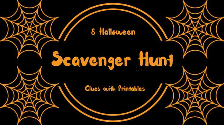 8 Halloween Scavenger Hunt Riddles With Printables