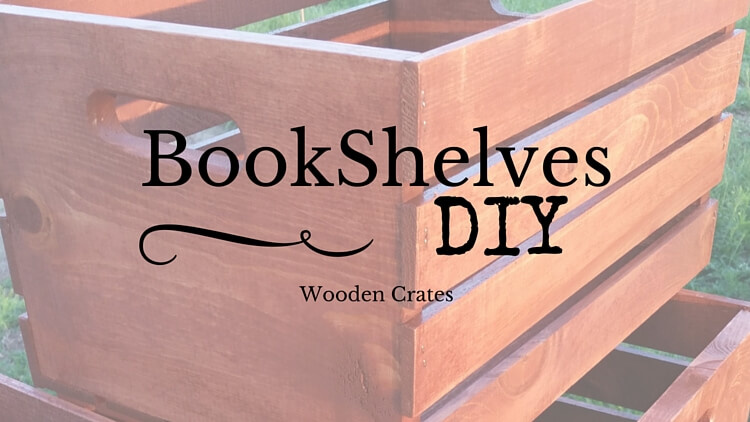 DIY Bookshelves Made From Wooden Crates