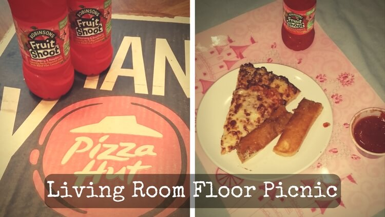 Picnic on the living room floor