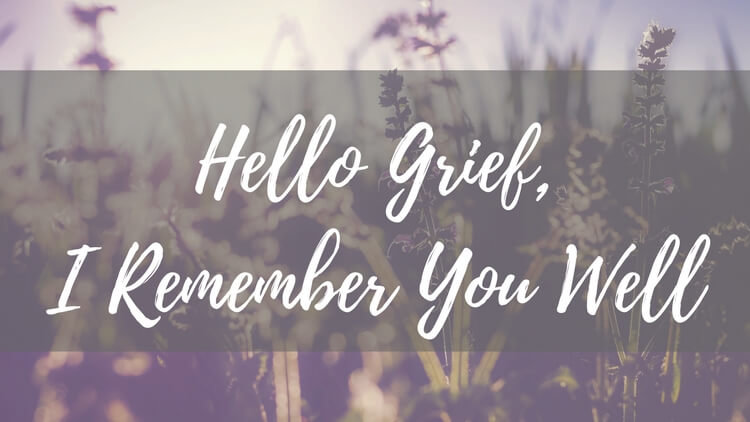 Hello Grief, I Remember You Well